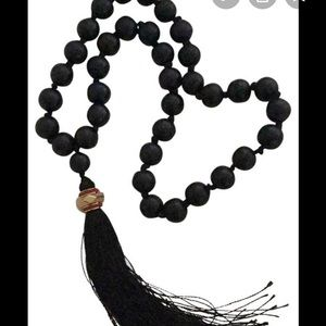 India Hicks Komboloi Bead Tassel Necklace